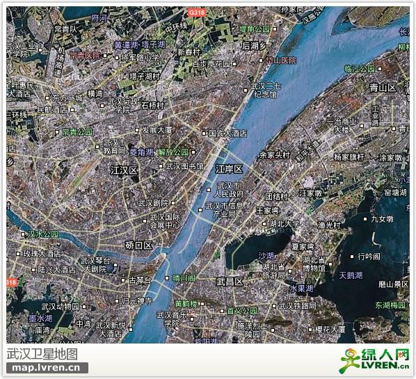武汉卫星地图